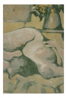 Munoz, Nude Women, Oil On Canvas