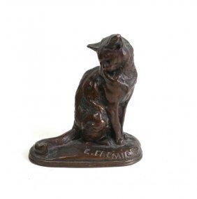 E. Fremiet, Sculpture Of A Cat