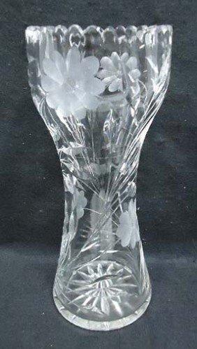 Cut Glass Vase