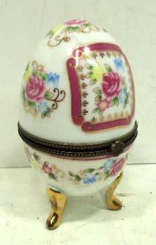 H.P. Porcelain Egg W/ Hinged Lid