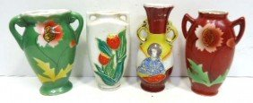 Lot Of 4 Occ. Japan Vases