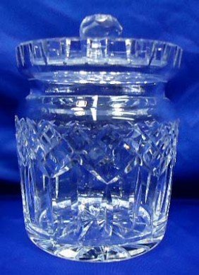 Signed Waterford Cut Glass Cracker Jar