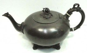 Early Pewter Tea Pot