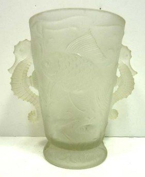 French Art Glass Vase