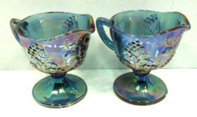 2 Indiana Glass Carnival Creamers