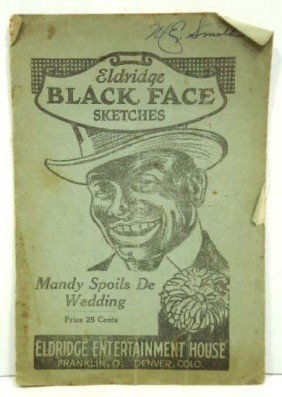 1922 Eldridge Black Face Sketches Book