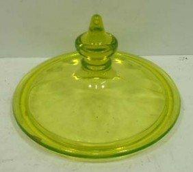 Vaseline Glass Lid