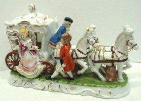 Porcelain Horses & Carriage