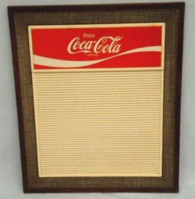 Coca Cola Menu Board