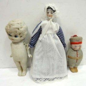 3pc Porc. & China Dolls