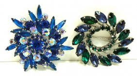 Unsigned Juliana Style Vtg. Brooches