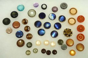 Vtg. Moonglow Buttons 43pc