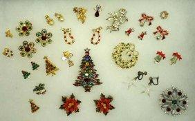 Vtg. Christmas Jewelry