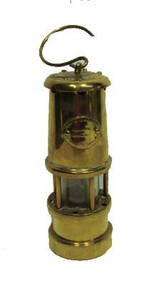Early Brass Miner's Lantern
