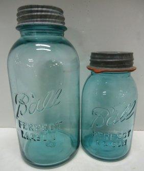 2- Ball Mason Fruit Jars No. 13