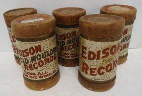 5 Edison Cylinder Records