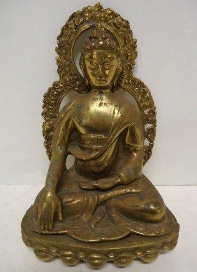 Oriental Brass Statue