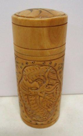 Carved Bone Box