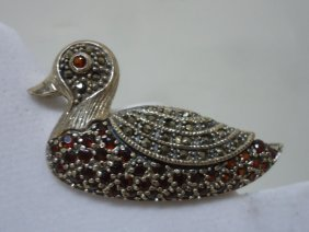 Sterling Duck Pin