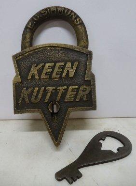 Brass Keen Kutter Lock & Key Modern
