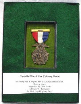 Nashville Wwi Victory Medal Orig. Box