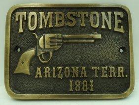 1881tombstone Arizona Terr. Plaque