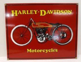 Modern Porcelain Harley Davidson Sign