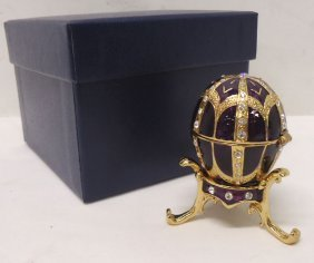 Enameled Jeweled Ring Box