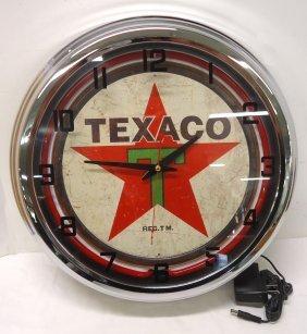 Modern Texaco Adv. Clock