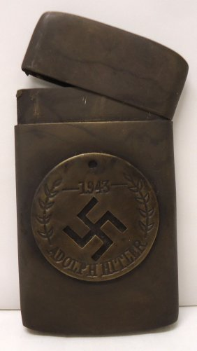 Modern Nazi Brass Card Case