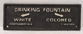 Modern C.i. Colored Drinking Fountain Sign