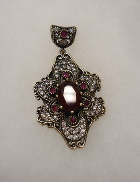 Sterling & Ruby Pendant