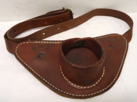 Leather Fish Fighting Belt/rod Holder