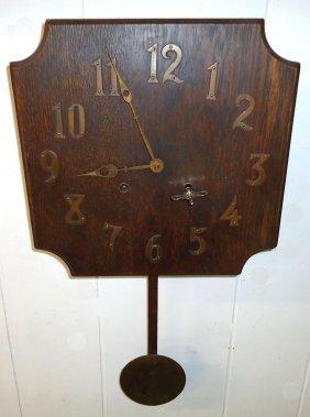 Mission Oak Wall Clock