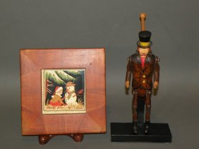 Carved Child�s Toy & Scherenschnitte