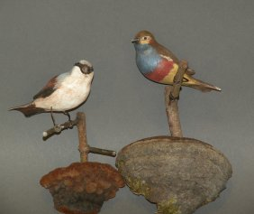 2 PA Folk Art Bird Carvings