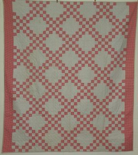 Irish Chain Pattern Patchwork Quilt