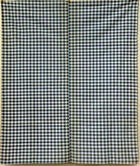 Cotton Check Tick & 3 Pieces Of Homespun Linen