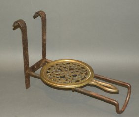 Iron & Brass Fire Trivet