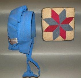 Wool Pin Cushion & Child�s Bonnet