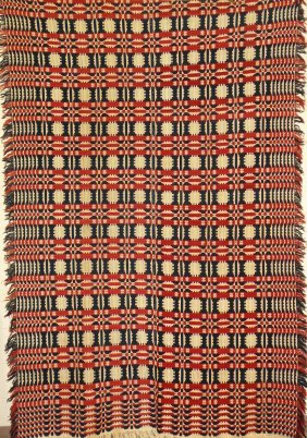 Geometric Pattern Coverlet