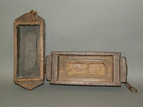 2 Wooden Brick Molds