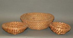 3 Rye Straw Baskets