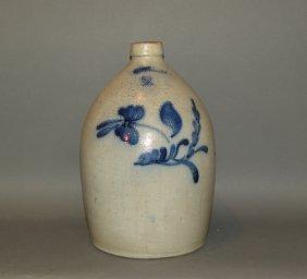 Hart 2 Gallon Cobalt Decorated Stoneware Jug