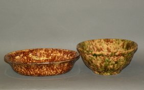 2 Rockingham Glaze Bowls