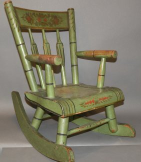 Decorated Child�s Rocker