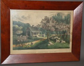 Currier & Ives �American Homestead Spring� Print