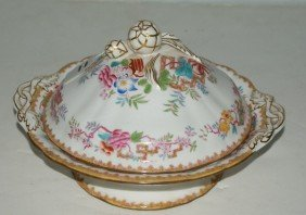 Minton Porcelain Entr�e Dish And Cover. Diameter: 9
