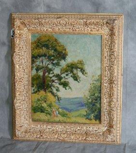 Framed Oil On Panel Pennsylvania Impressionist