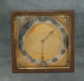 Bronze 8 Day Travling Clock.